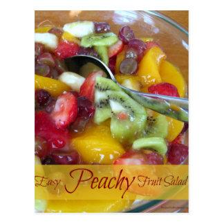 Cartão de enchimento da receita da salada de fruta