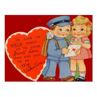 Cartão de envio pelo correio dos namorados do