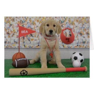 Cartão de esportes de Bea
