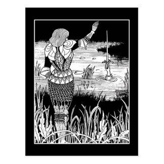 Cartão de Excalibur do cavaleiro de Beardsley