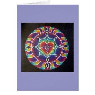 Cartão de expansão da mandala do coração