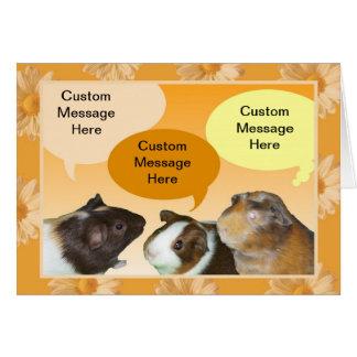 Cartão de fala de Piggies