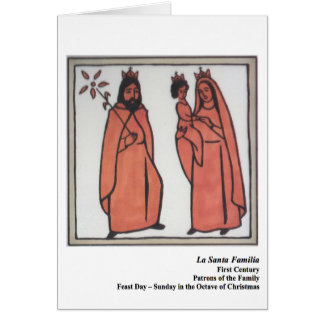 Cartão de Familia Santo do papai noel do La