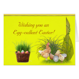 Cartão de felz pascoa