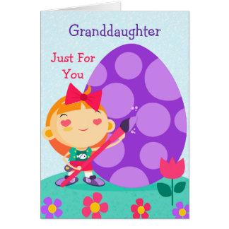 Cartão de felz pascoa a minha neta