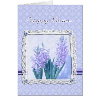Cartão de felz pascoa cristão, flor do açafrão
