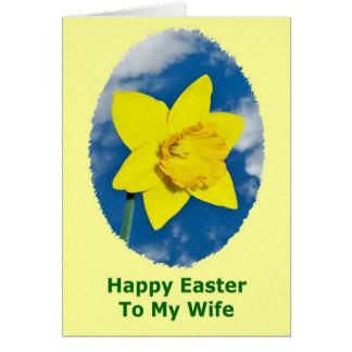 Cartão de felz pascoa para a esposa