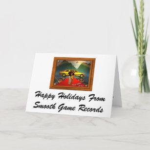 Cartão De Festividades Boas festas do jogo liso R… f1cdc6bb9b0b0