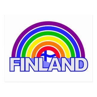 Cartão de Finlandia do arco-íris
