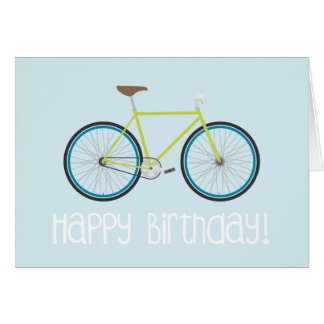 Cartão de Fixie do feliz aniversario