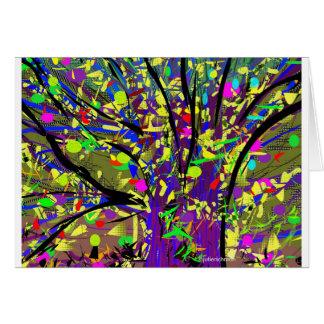 Cartão de florescência abstrato da árvore dos