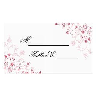 Cartão de florescência cor-de-rosa do lugar das cartão de visita