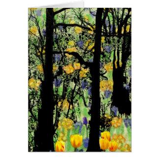 Cartão de florescência da floresta