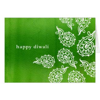Cartão de Forest Green Paisleys Diwali