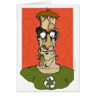 Cartão de Frankenstein o Dia das Bruxas,