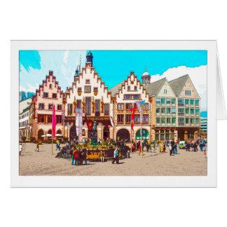 Cartão De Frankfurt, Germany romano, Market Place