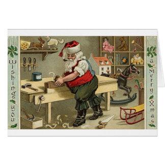 Cartão de fumo do Natal do papai noel da tubulação