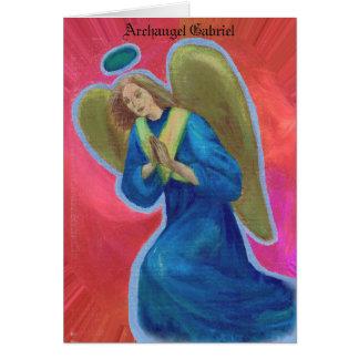 Cartão de Gabriel do arcanjo
