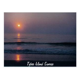 Cartão de Geórgia do nascer do sol da ilha de