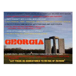 Cartão de Geórgia Guidestones