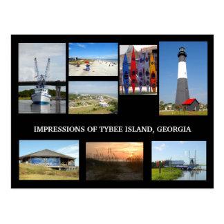Cartão de Georiga da ilha de Tybee