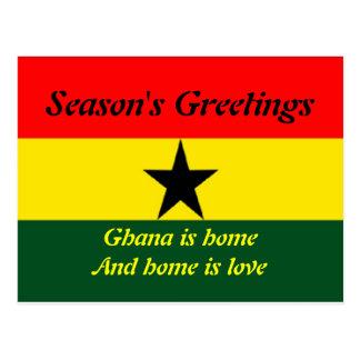 Cartão de Ghana boas festas
