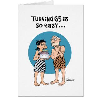 Cartão de giro de 65 aniversários