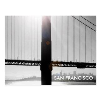 Cartão de golden gate bridge (preto & branco)