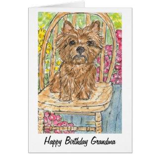 Cartão de Gran da avó do feliz aniversario de