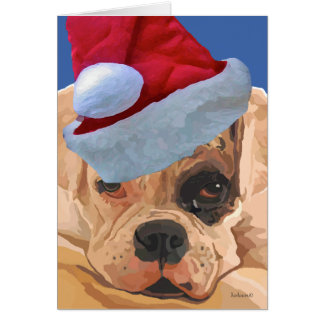 Cartão de Greeeting do pugilista do Natal