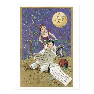 Cartão de grito do Victorian do poema da lua