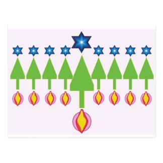 Cartão de Hanukkah Chrismukkah do Natal