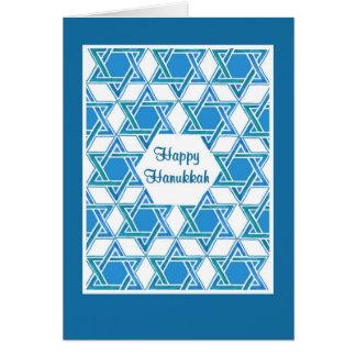 Cartão de Hanukkah com teste padrão de estrela de
