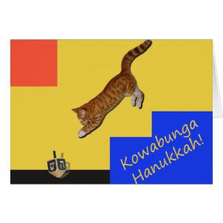 Cartão de Hanukkah do gato de Kowabunga