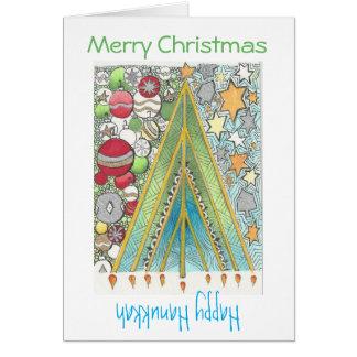 Cartão de Hanukkah do Natal