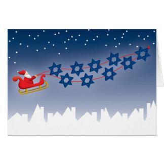 Cartão de Hanukkah e de Natal