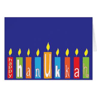 "Cartão de Hanukkah/envelope de ""velas Hanukkah """