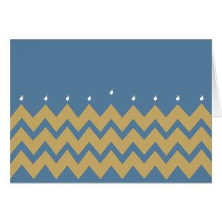 """Cartão de Hanukkah/envelope """"Hanukkah Chevron """""""