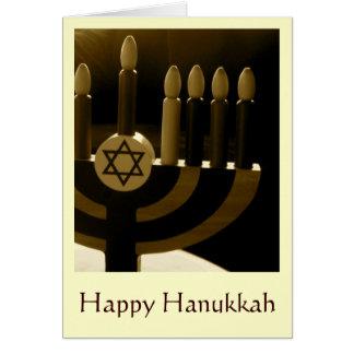 Cartão de Hanukkah Menorah