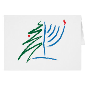 Cartão de Hanukkah/Natal