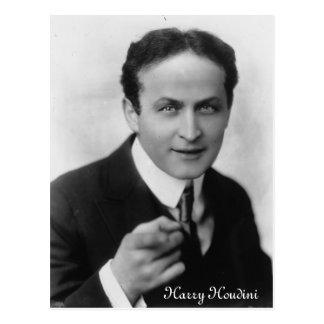 Cartão de Harry Houdini