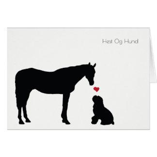 Cartão de Hest Og Hund