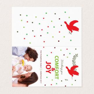 Cartão de Holidayz do conforto e da alegria