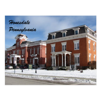 Cartão de Honesdale Pensilvânia