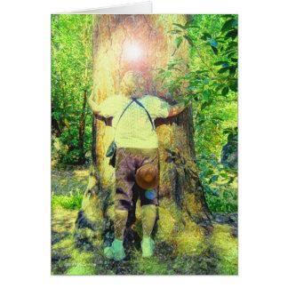 Cartão de Hugger da árvore