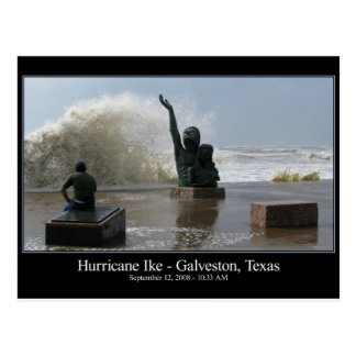 Cartão de Ike do furacão
