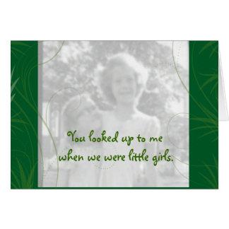 Cartão de imagem da irmã