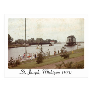 Cartão de imagem retro de St Joseph Michigan