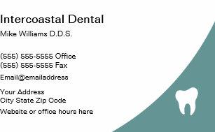 Cartões De Indicação Cartão Visita Do Dentista Zazzlecombr