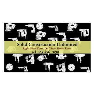 cartão de indústria da construção cartoes de visita